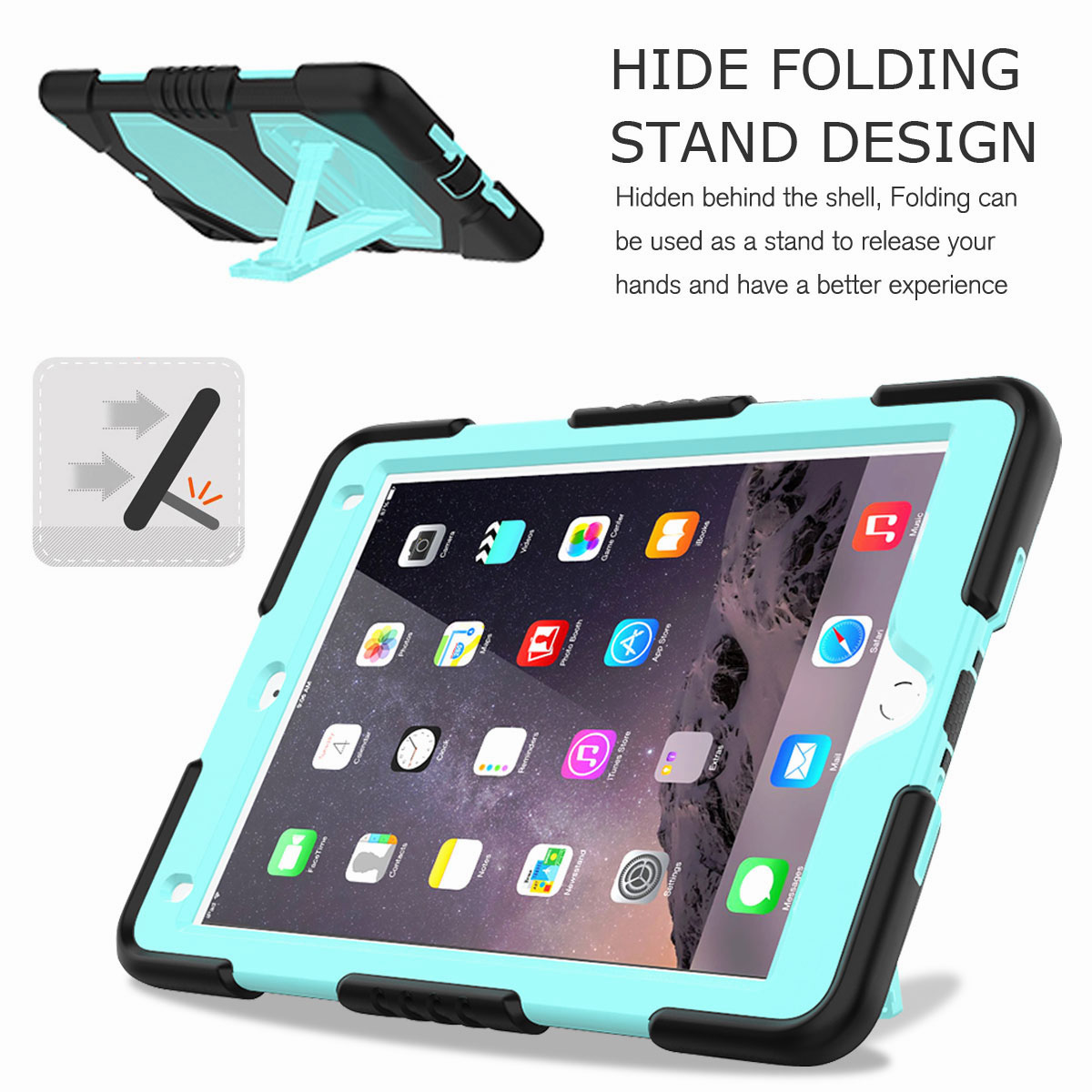 Hybrid-Rubber-Heavy-Duty-Shockproof-Case-Cover-For-iPad-9-7-6th-Generation-2018 thumbnail 41