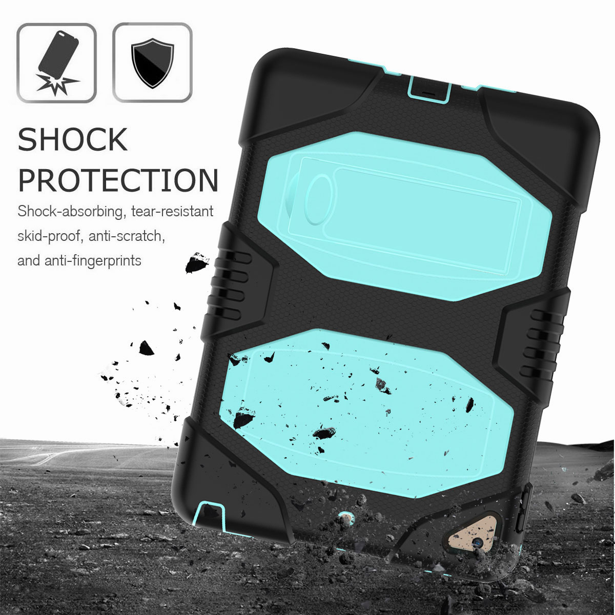 Hybrid-Rubber-Heavy-Duty-Shockproof-Case-Cover-For-iPad-9-7-6th-Generation-2018 thumbnail 42