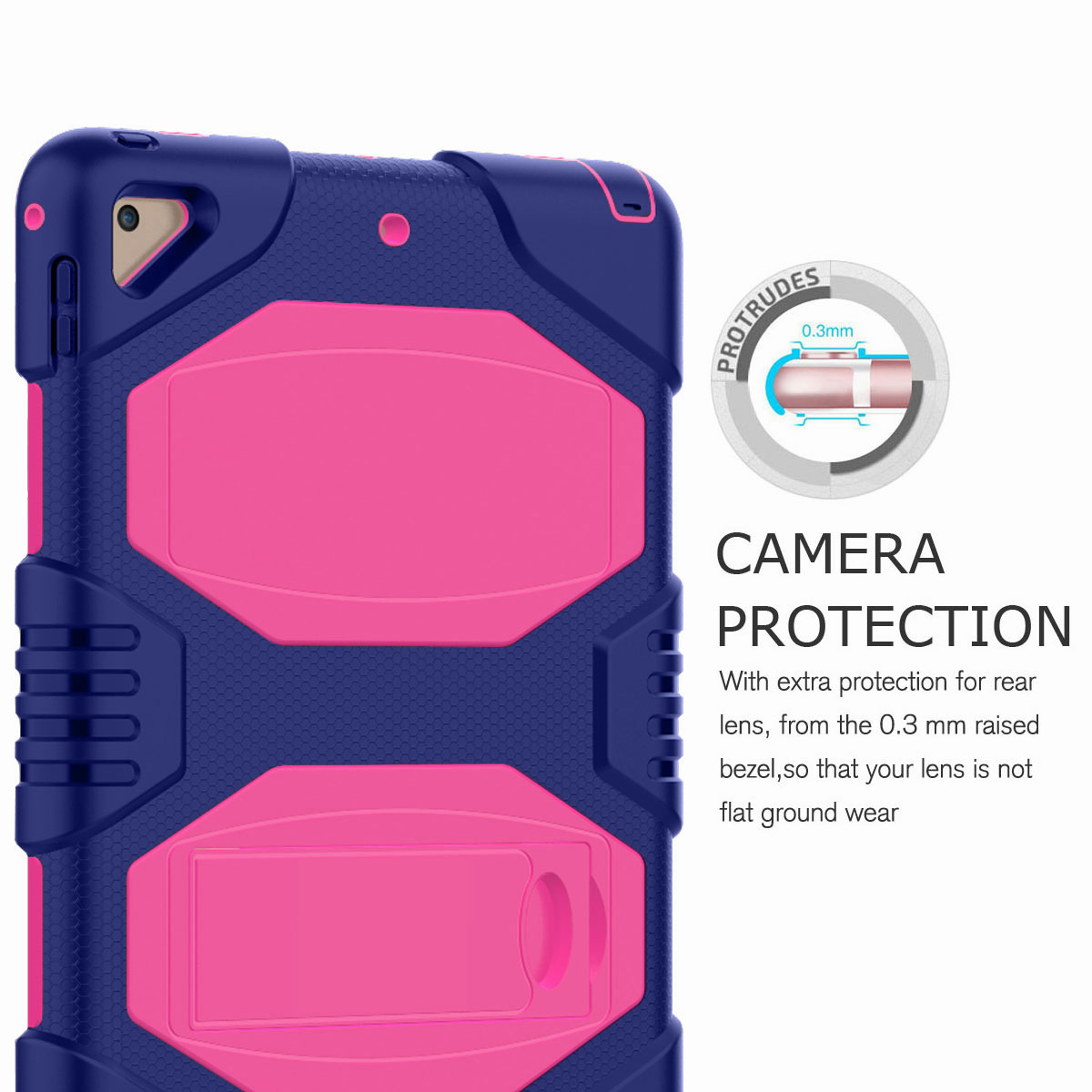 Hybrid-Rubber-Heavy-Duty-Shockproof-Case-Cover-For-iPad-9-7-6th-Generation-2018 thumbnail 44