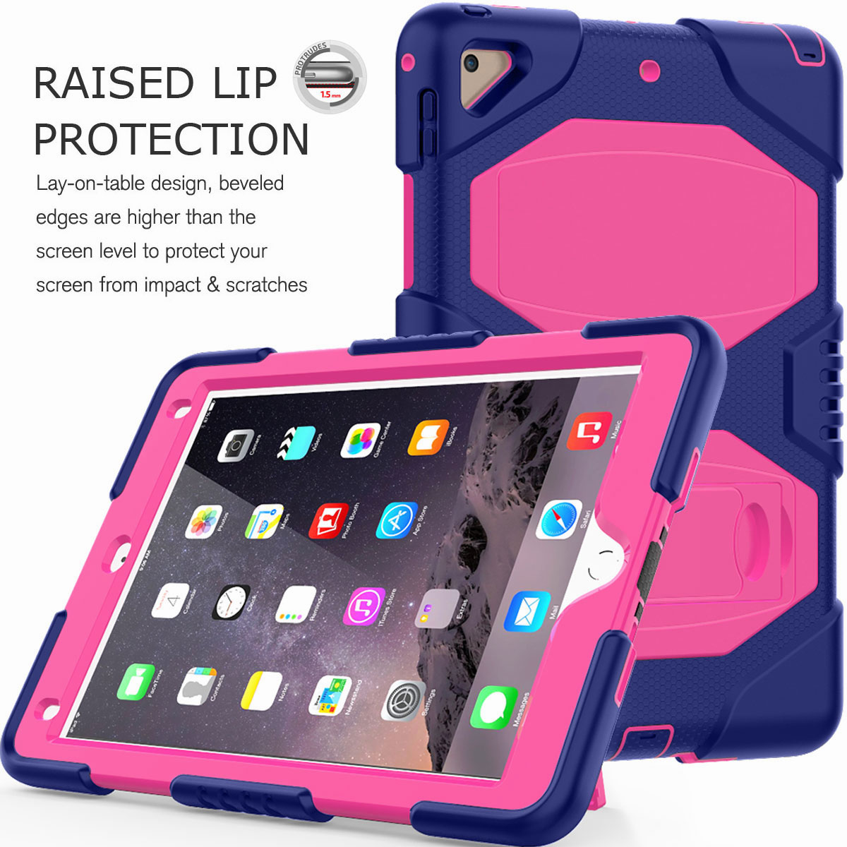 Hybrid-Rubber-Heavy-Duty-Shockproof-Case-Cover-For-iPad-9-7-6th-Generation-2018 thumbnail 45