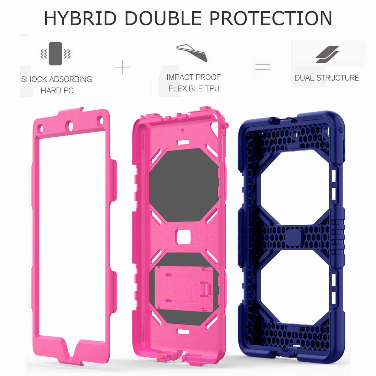 Hybrid-Rubber-Heavy-Duty-Shockproof-Case-Cover-For-iPad-9-7-6th-Generation-2018 thumbnail 46