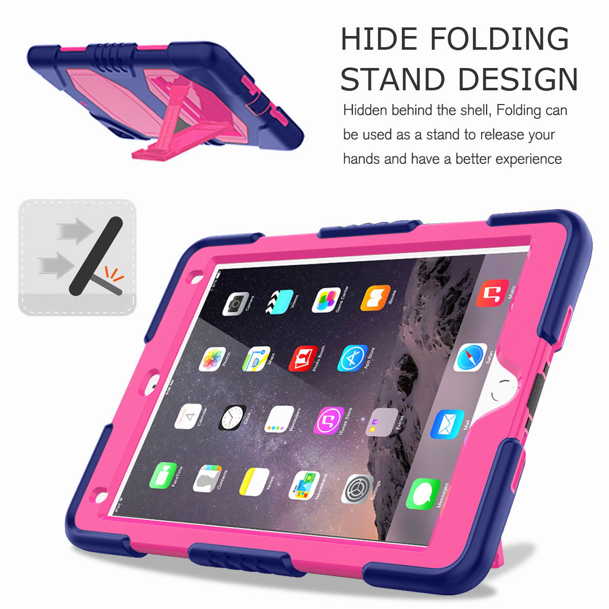 Hybrid-Rubber-Heavy-Duty-Shockproof-Case-Cover-For-iPad-9-7-6th-Generation-2018 thumbnail 47