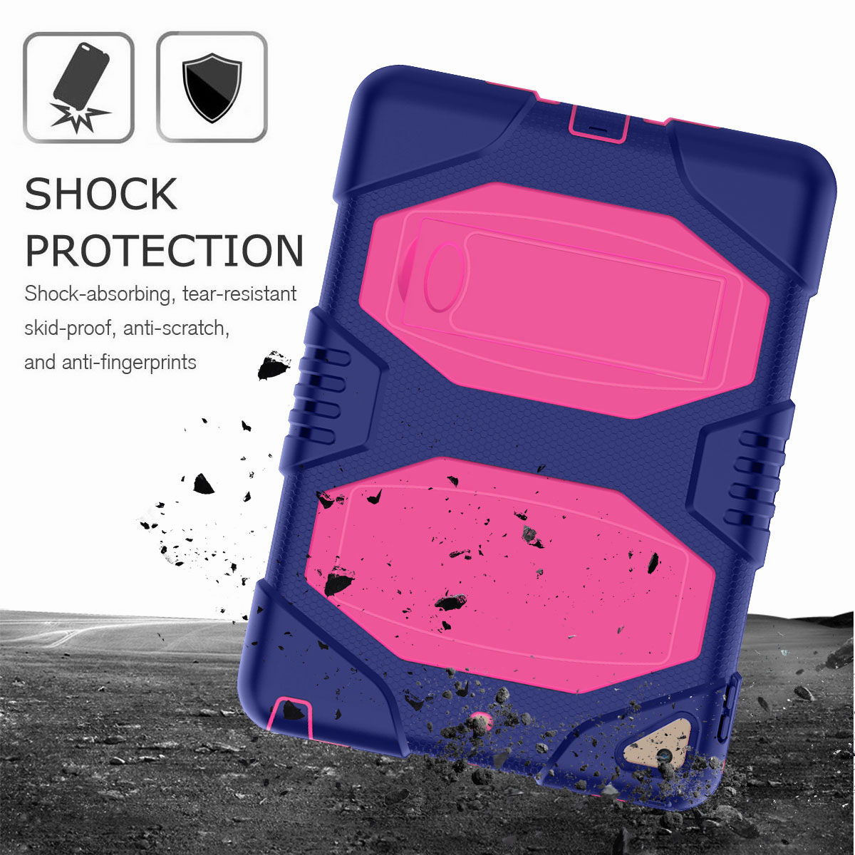 Hybrid-Rubber-Heavy-Duty-Shockproof-Case-Cover-For-iPad-9-7-6th-Generation-2018 thumbnail 48