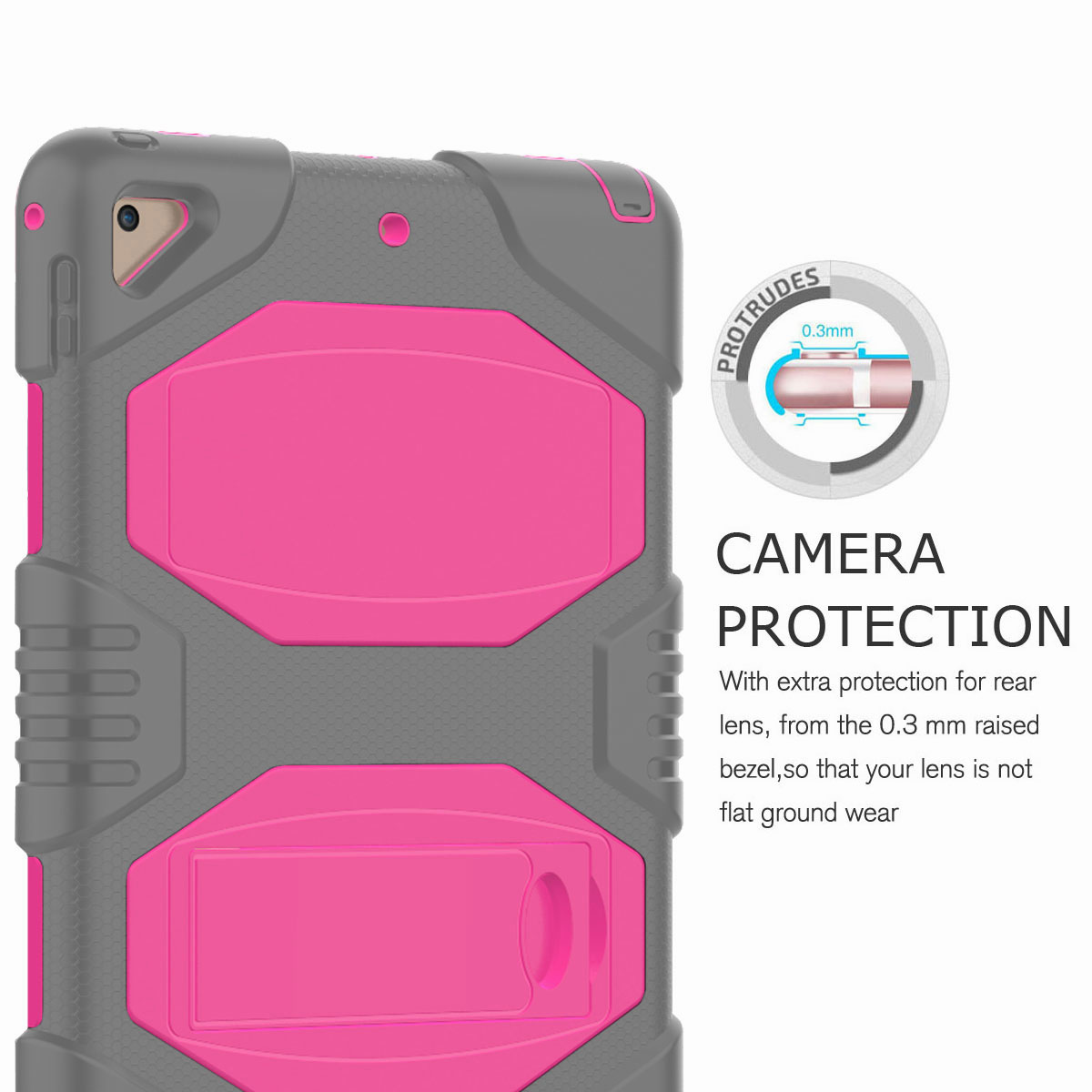 Hybrid-Rubber-Heavy-Duty-Shockproof-Case-Cover-For-iPad-9-7-6th-Generation-2018 thumbnail 50