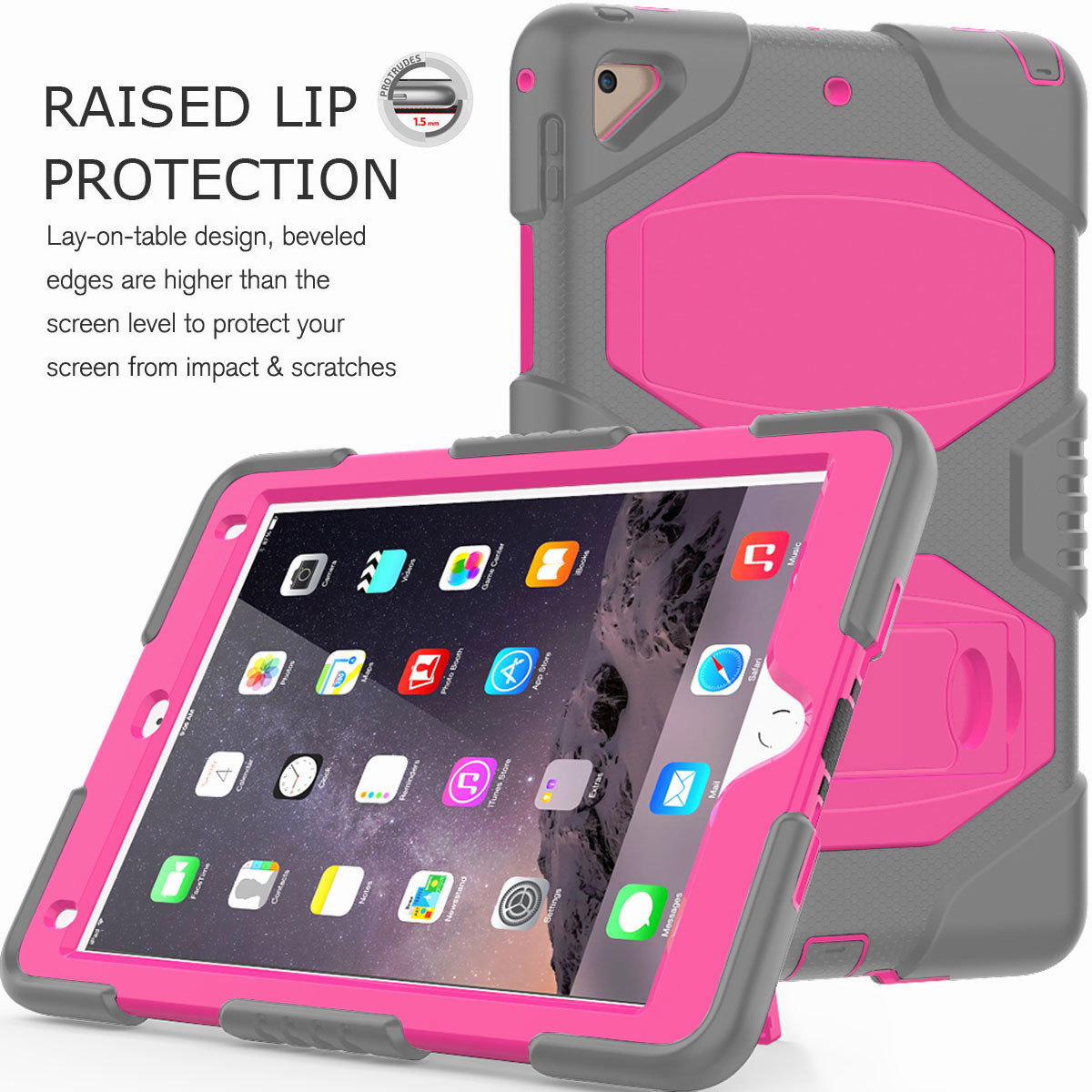 Hybrid-Rubber-Heavy-Duty-Shockproof-Case-Cover-For-iPad-9-7-6th-Generation-2018 thumbnail 51