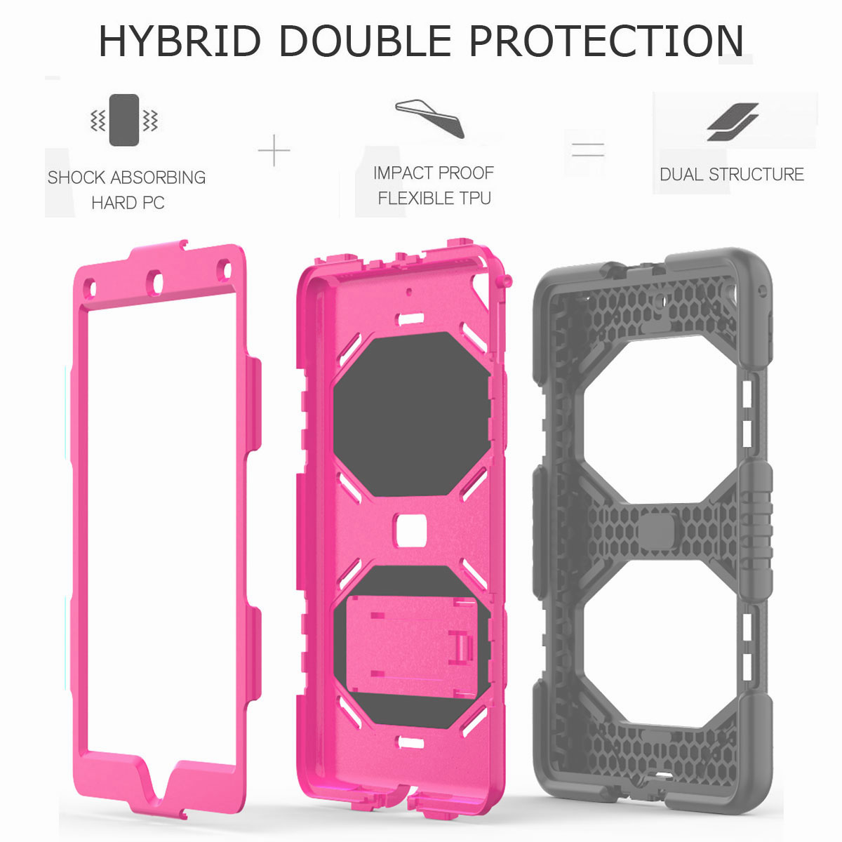 Hybrid-Rubber-Heavy-Duty-Shockproof-Case-Cover-For-iPad-9-7-6th-Generation-2018 thumbnail 52