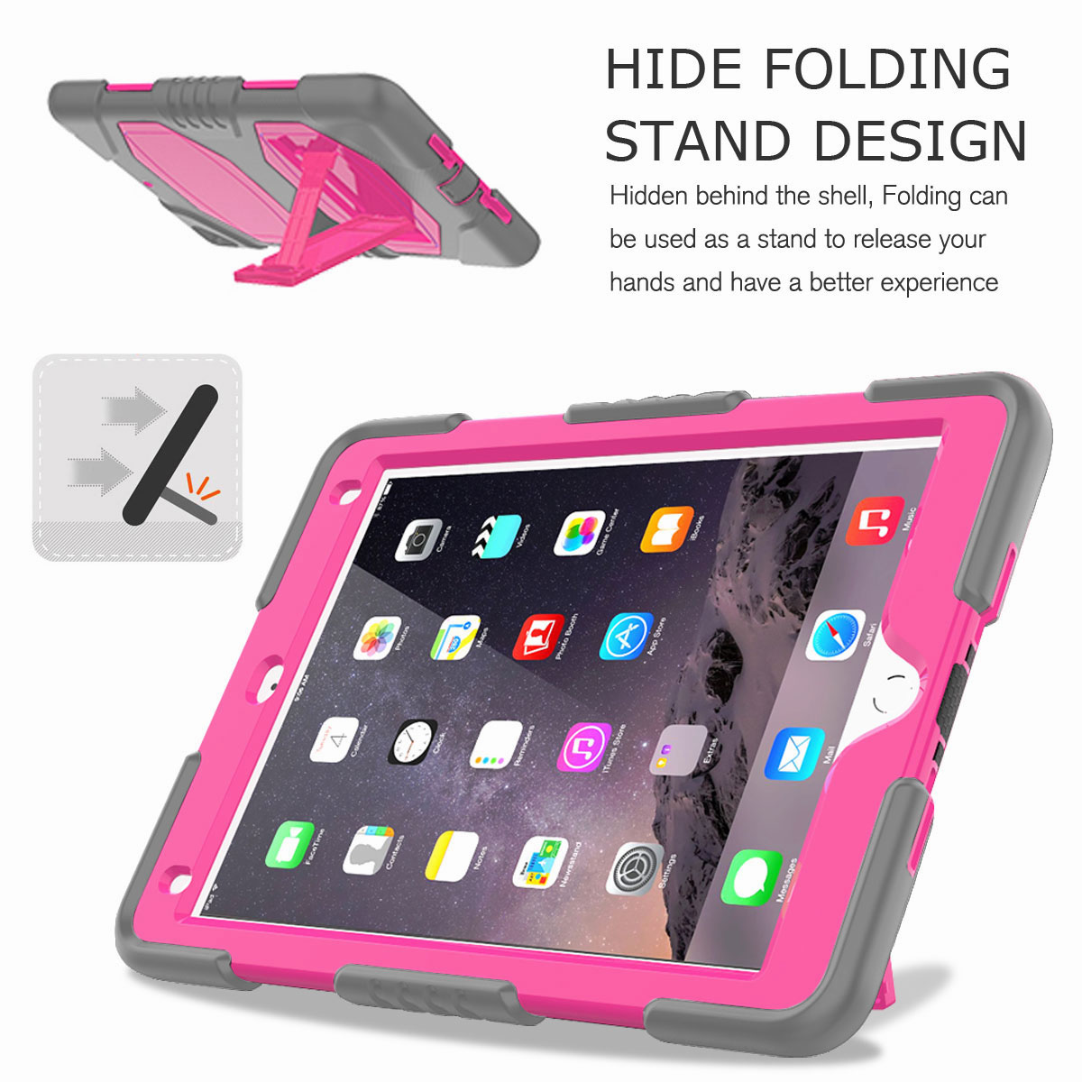 Hybrid-Rubber-Heavy-Duty-Shockproof-Case-Cover-For-iPad-9-7-6th-Generation-2018 thumbnail 53
