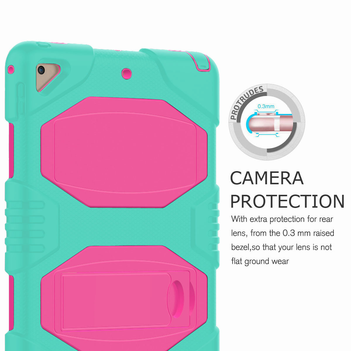 Hybrid-Rubber-Heavy-Duty-Shockproof-Case-Cover-For-iPad-9-7-6th-Generation-2018 thumbnail 56