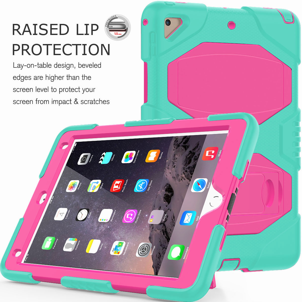 Hybrid-Rubber-Heavy-Duty-Shockproof-Case-Cover-For-iPad-9-7-6th-Generation-2018 thumbnail 57
