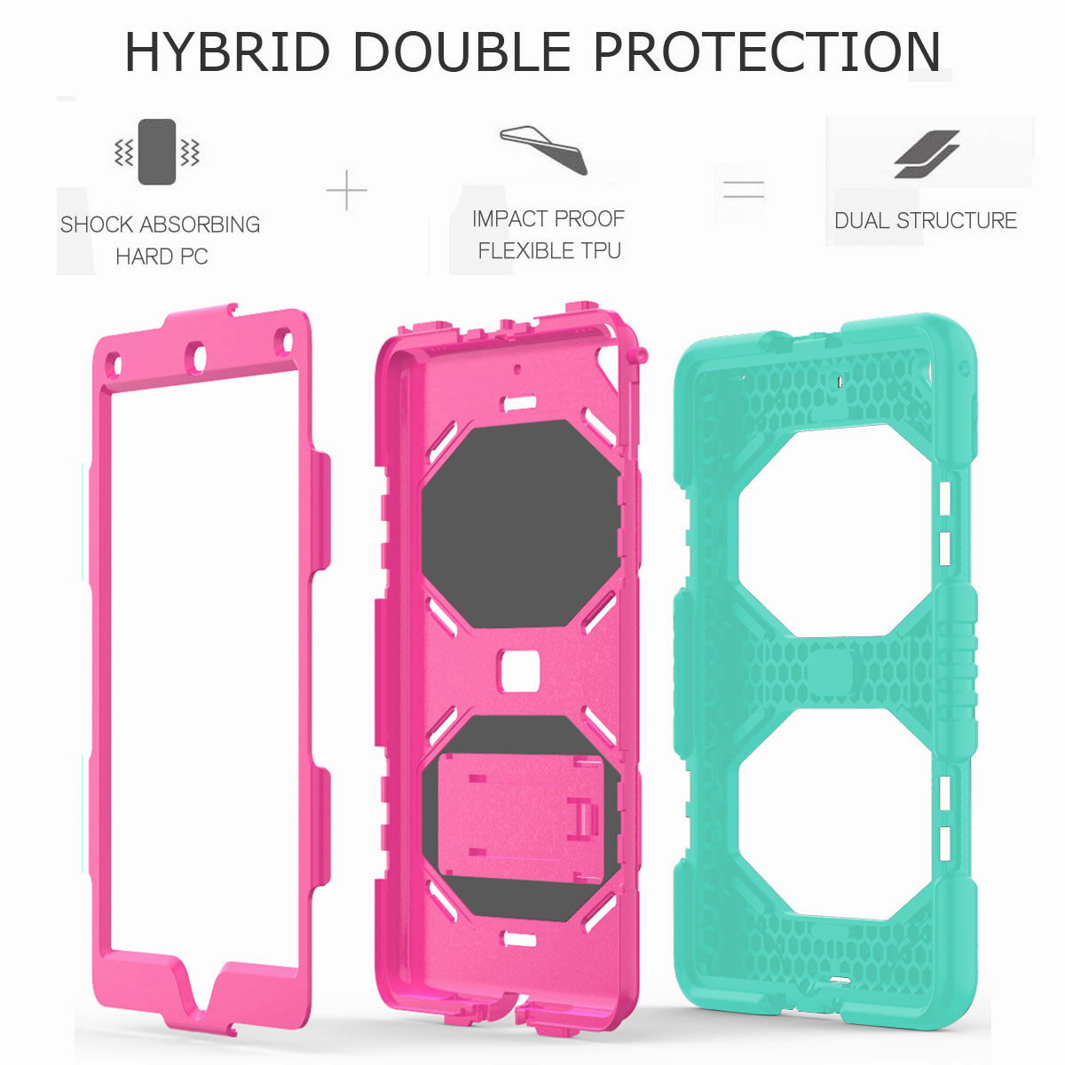 Hybrid-Rubber-Heavy-Duty-Shockproof-Case-Cover-For-iPad-9-7-6th-Generation-2018 thumbnail 58