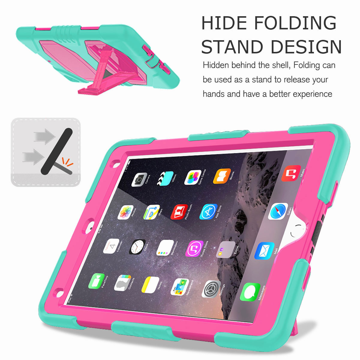 Hybrid-Rubber-Heavy-Duty-Shockproof-Case-Cover-For-iPad-9-7-6th-Generation-2018 thumbnail 59