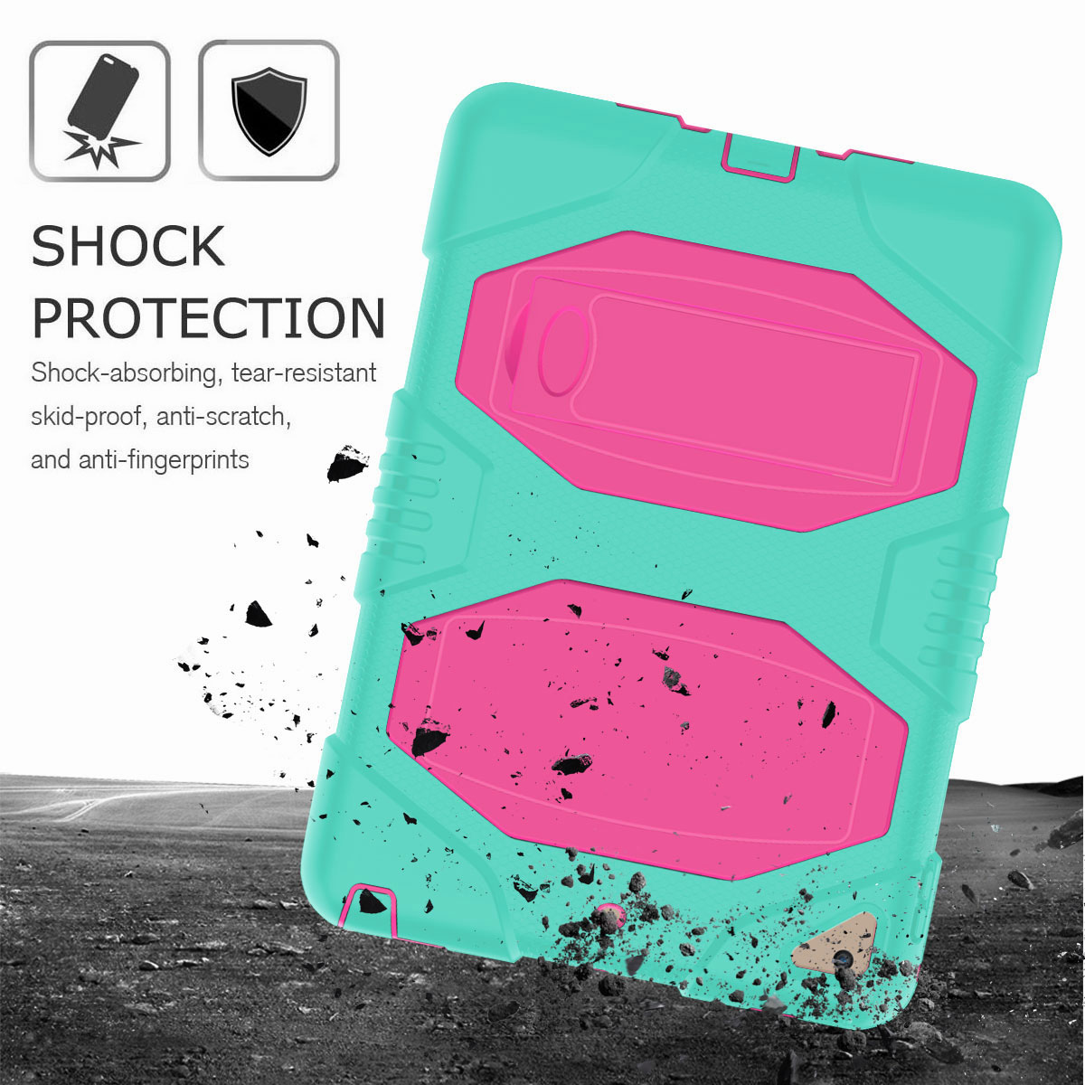 Hybrid-Rubber-Heavy-Duty-Shockproof-Case-Cover-For-iPad-9-7-6th-Generation-2018 thumbnail 60