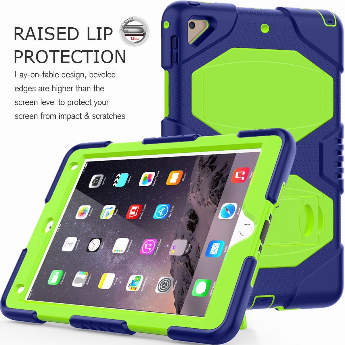 Hybrid-Rubber-Heavy-Duty-Shockproof-Case-Cover-For-iPad-9-7-6th-Generation-2018 thumbnail 63