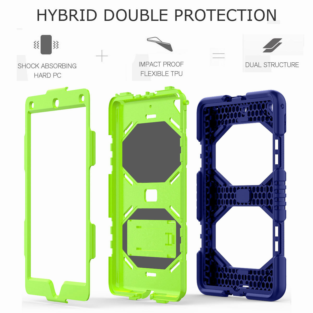 Hybrid-Rubber-Heavy-Duty-Shockproof-Case-Cover-For-iPad-9-7-6th-Generation-2018 thumbnail 64