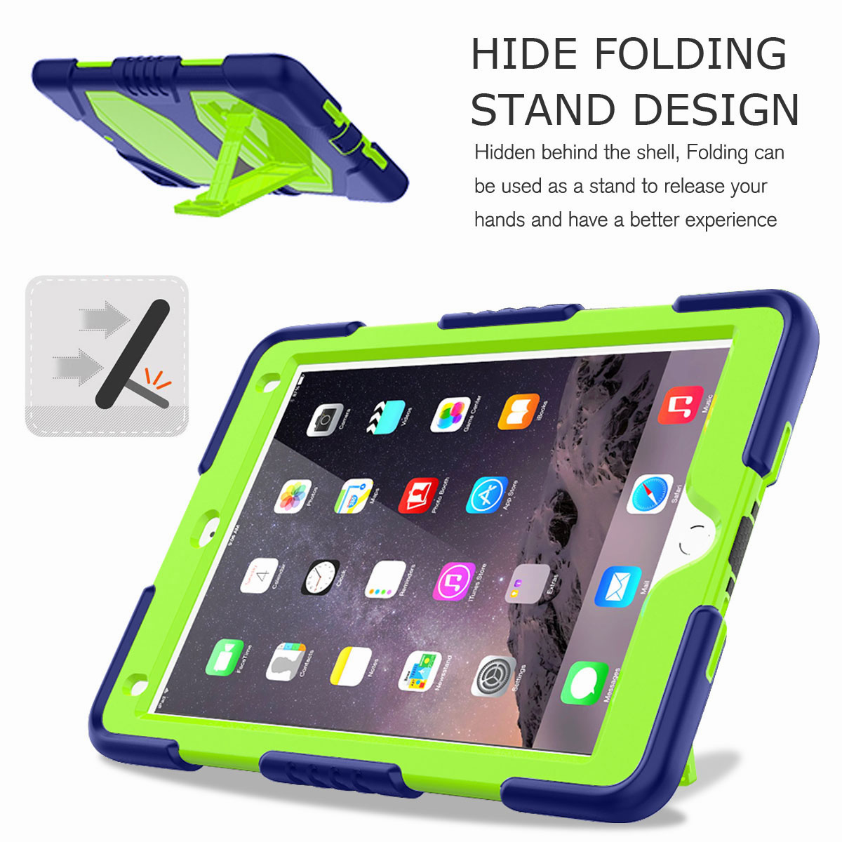 Hybrid-Rubber-Heavy-Duty-Shockproof-Case-Cover-For-iPad-9-7-6th-Generation-2018 thumbnail 65