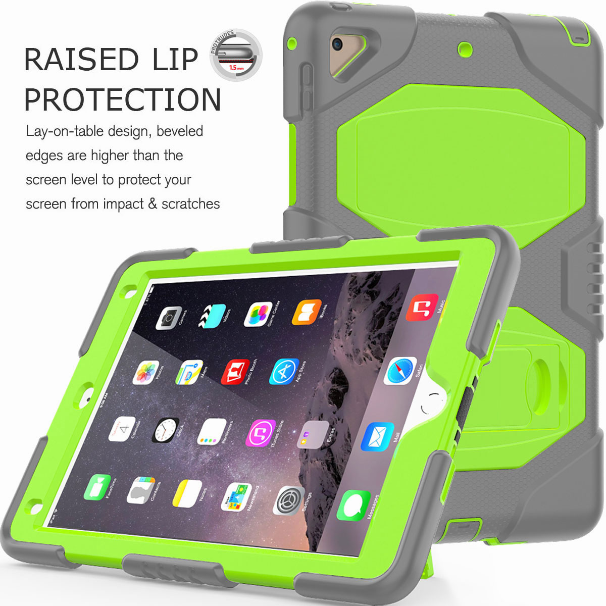Hybrid-Rubber-Heavy-Duty-Shockproof-Case-Cover-For-iPad-9-7-6th-Generation-2018 thumbnail 69