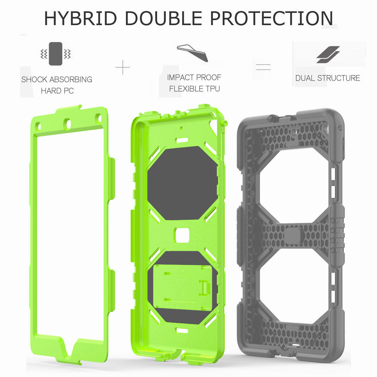 Hybrid-Rubber-Heavy-Duty-Shockproof-Case-Cover-For-iPad-9-7-6th-Generation-2018 thumbnail 70