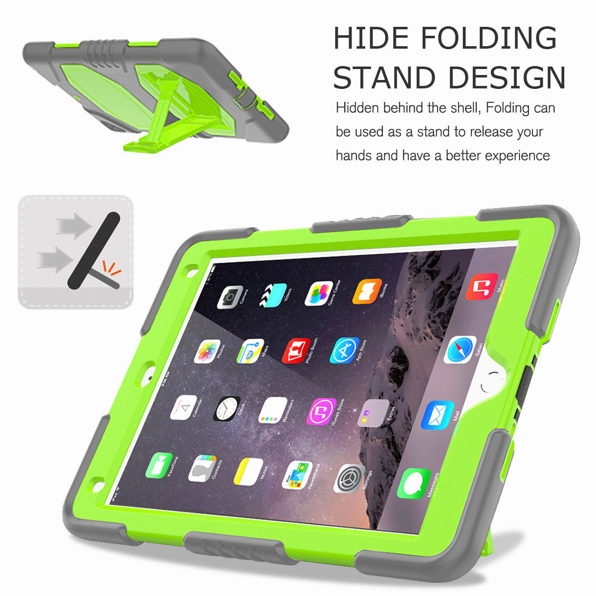 Hybrid-Rubber-Heavy-Duty-Shockproof-Case-Cover-For-iPad-9-7-6th-Generation-2018 thumbnail 71