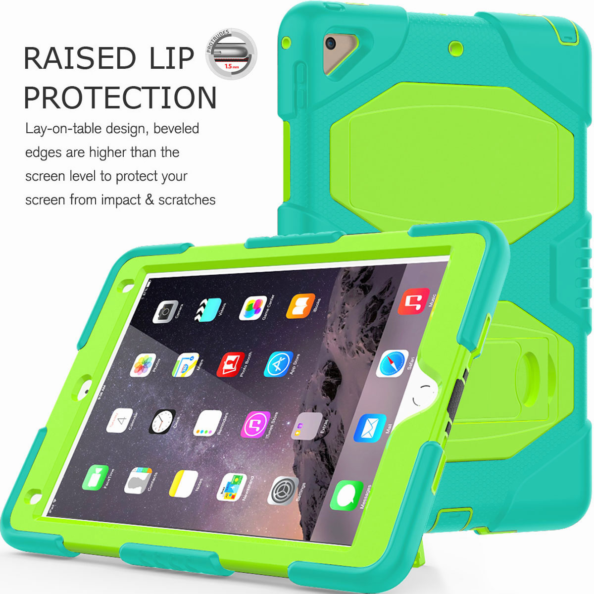 Hybrid-Rubber-Heavy-Duty-Shockproof-Case-Cover-For-iPad-9-7-6th-Generation-2018 thumbnail 75