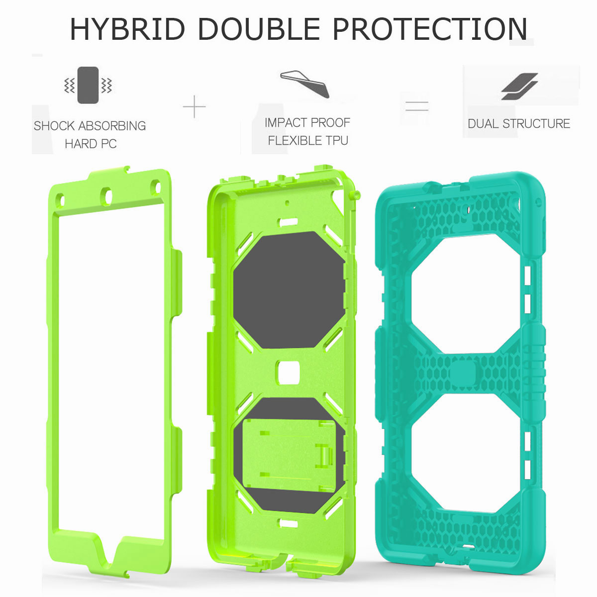 Hybrid-Rubber-Heavy-Duty-Shockproof-Case-Cover-For-iPad-9-7-6th-Generation-2018 thumbnail 76