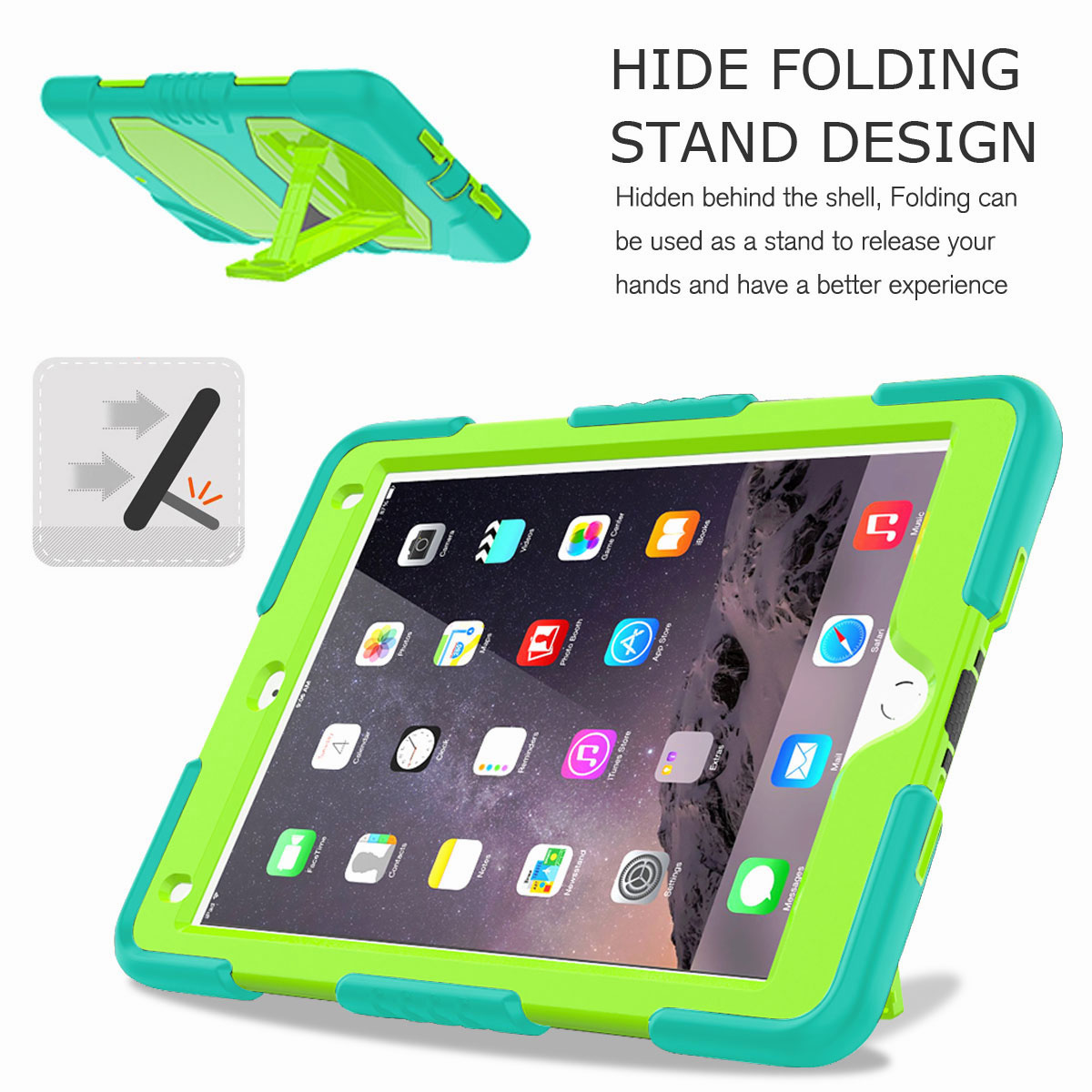 Hybrid-Rubber-Heavy-Duty-Shockproof-Case-Cover-For-iPad-9-7-6th-Generation-2018 thumbnail 77