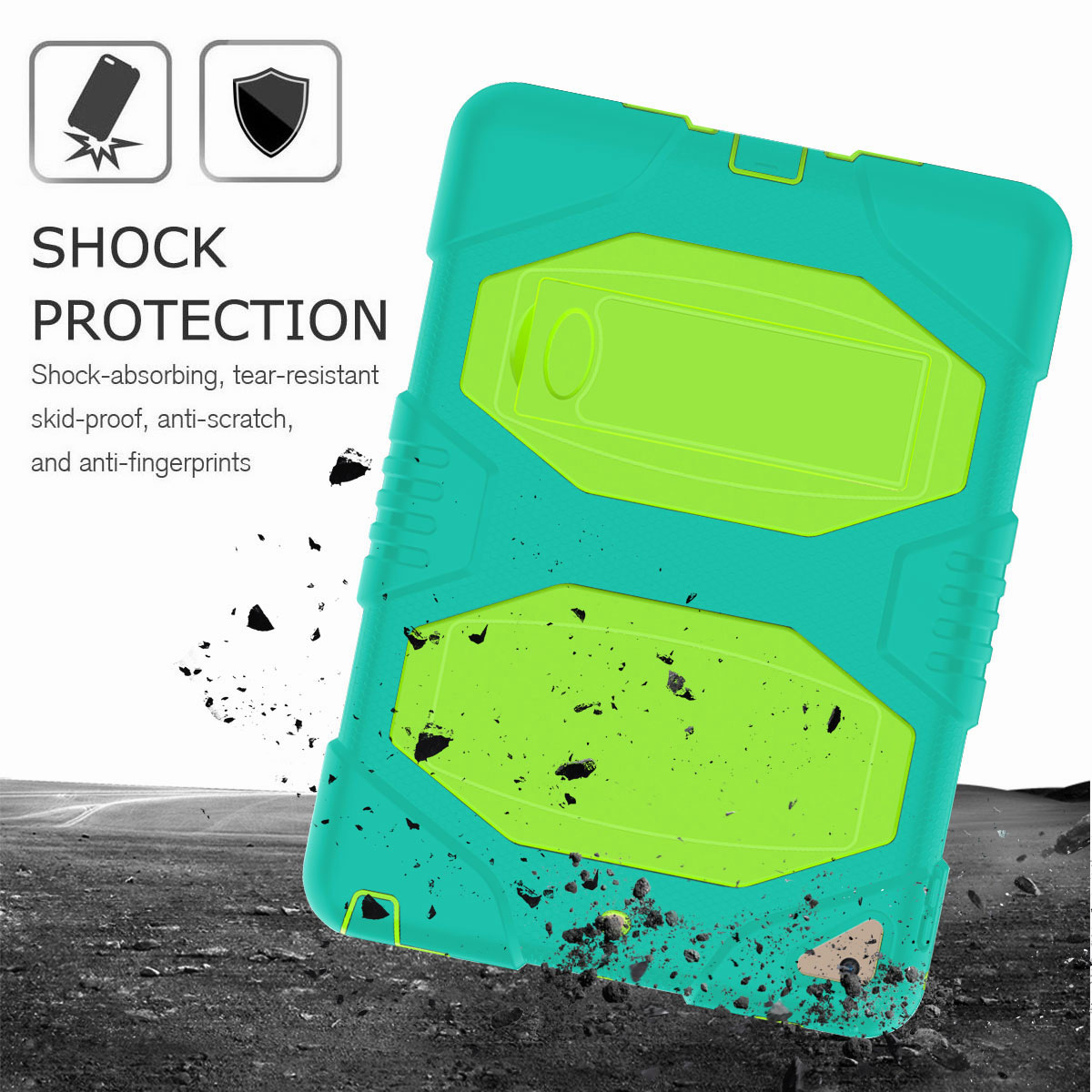 Hybrid-Rubber-Heavy-Duty-Shockproof-Case-Cover-For-iPad-9-7-6th-Generation-2018 thumbnail 78