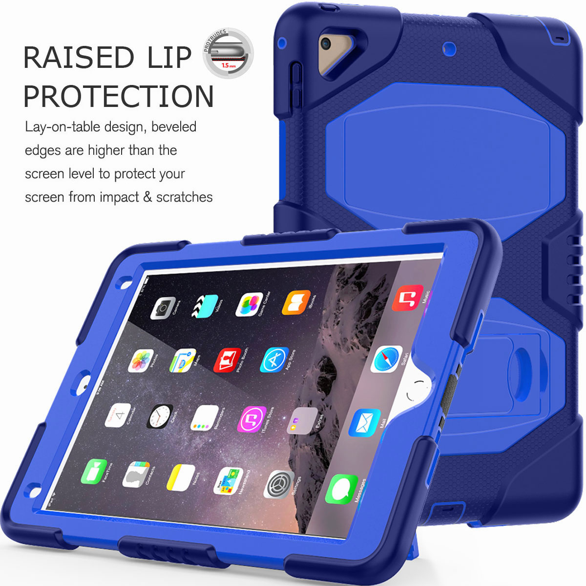 Hybrid-Rubber-Heavy-Duty-Shockproof-Case-Cover-For-iPad-9-7-6th-Generation-2018 thumbnail 81
