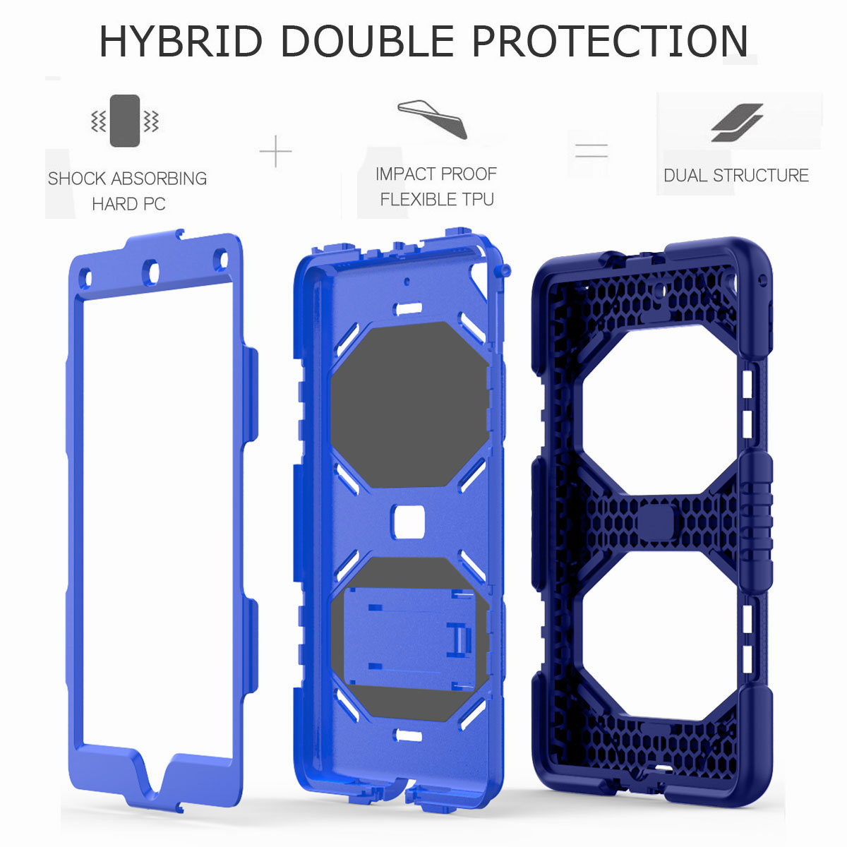 Hybrid-Rubber-Heavy-Duty-Shockproof-Case-Cover-For-iPad-9-7-6th-Generation-2018 thumbnail 82
