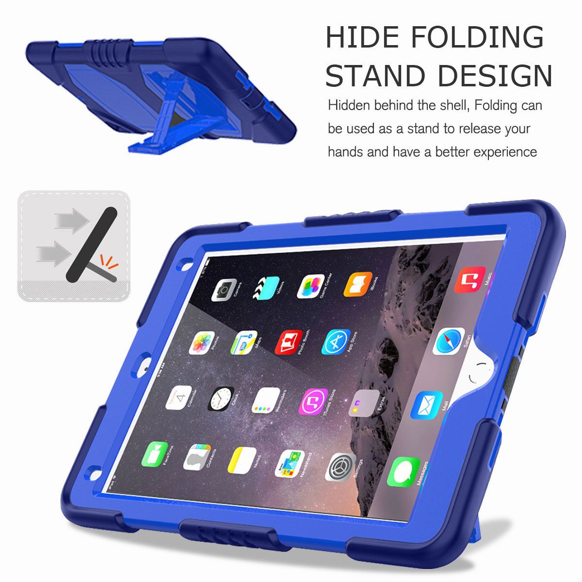 Hybrid-Rubber-Heavy-Duty-Shockproof-Case-Cover-For-iPad-9-7-6th-Generation-2018 thumbnail 83
