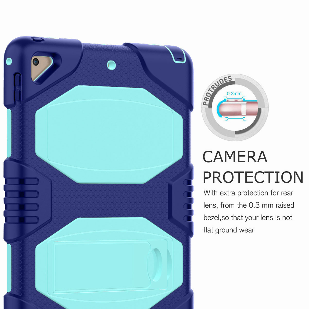 Hybrid-Rubber-Heavy-Duty-Shockproof-Case-Cover-For-iPad-9-7-6th-Generation-2018 thumbnail 86