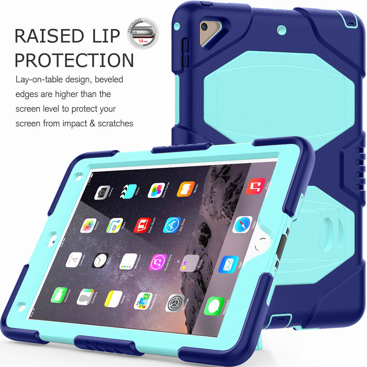 Hybrid-Rubber-Heavy-Duty-Shockproof-Case-Cover-For-iPad-9-7-6th-Generation-2018 thumbnail 87