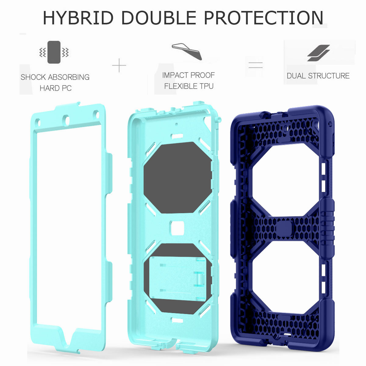 Hybrid-Rubber-Heavy-Duty-Shockproof-Case-Cover-For-iPad-9-7-6th-Generation-2018 thumbnail 88