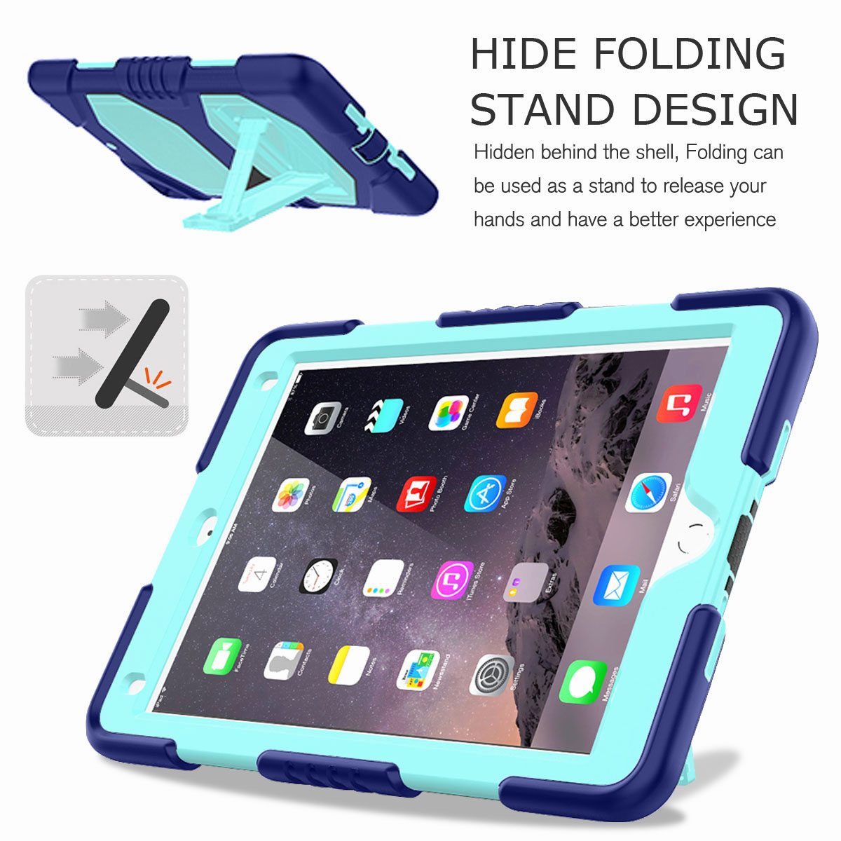 Hybrid-Rubber-Heavy-Duty-Shockproof-Case-Cover-For-iPad-9-7-6th-Generation-2018 thumbnail 89