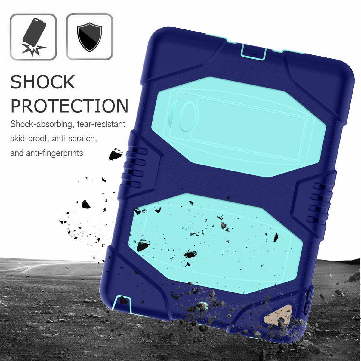 Hybrid-Rubber-Heavy-Duty-Shockproof-Case-Cover-For-iPad-9-7-6th-Generation-2018 thumbnail 90