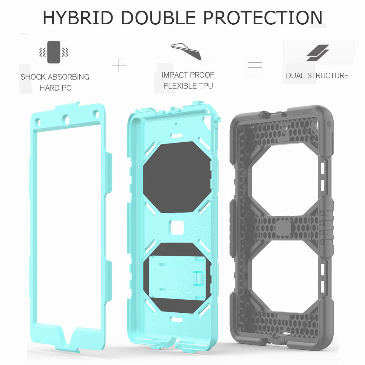 Hybrid-Rubber-Heavy-Duty-Shockproof-Case-Cover-For-iPad-9-7-6th-Generation-2018 thumbnail 94