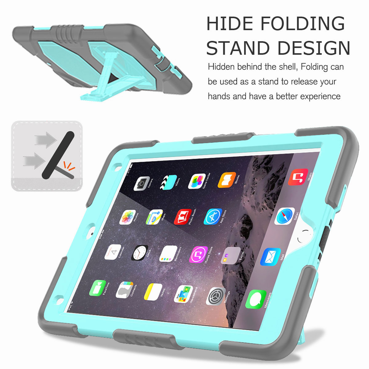 Hybrid-Rubber-Heavy-Duty-Shockproof-Case-Cover-For-iPad-9-7-6th-Generation-2018 thumbnail 95
