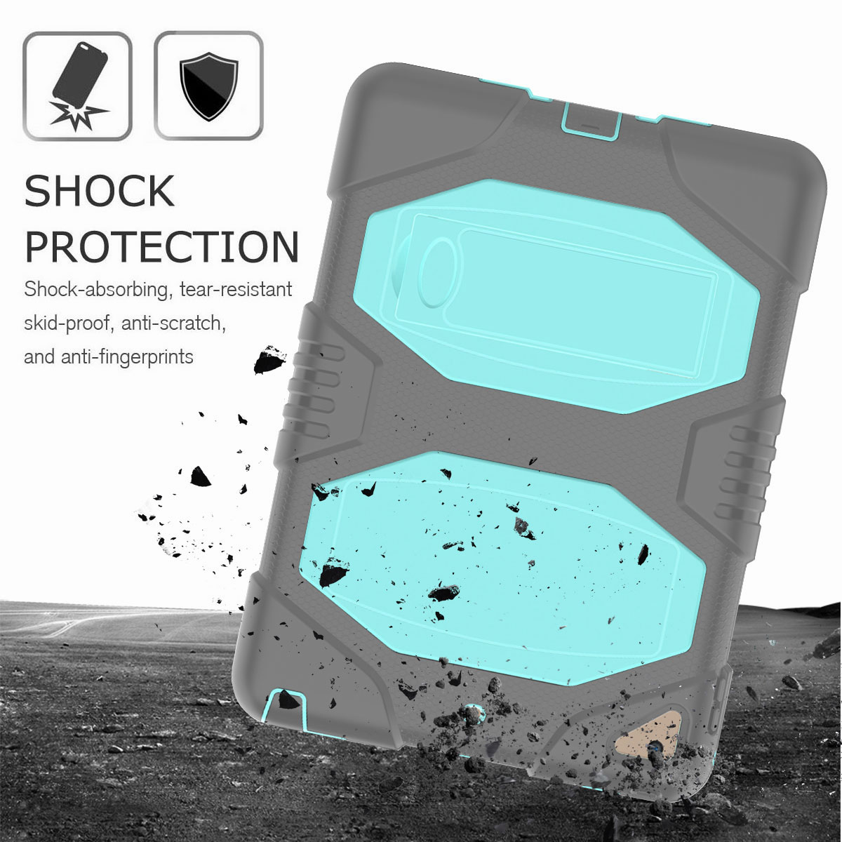 Hybrid-Rubber-Heavy-Duty-Shockproof-Case-Cover-For-iPad-9-7-6th-Generation-2018 thumbnail 96