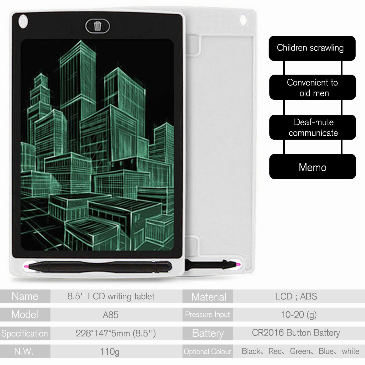 8-5-034-Digital-Electronic-LCD-Writing-Tablet-Drawing-Pad-eWriter-Board-For-Kids thumbnail 44