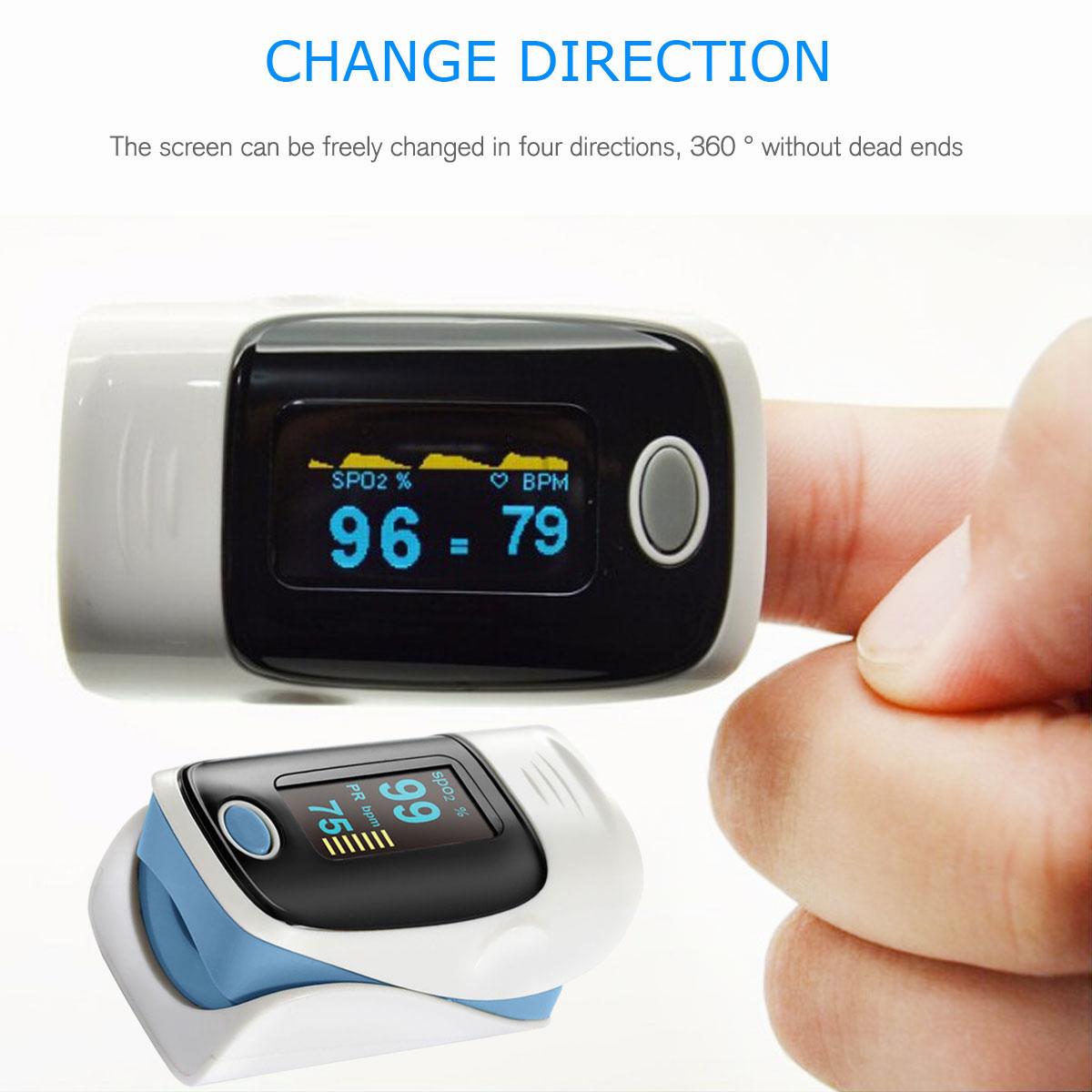 LED-Fingertip-Instant-Read-Finger-Pulse-Oximeter-Blood-Oxygen-Meter-SpO2-Monitor thumbnail 18