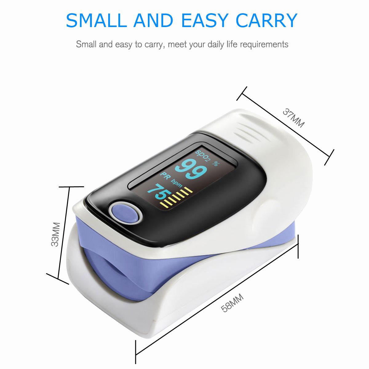 LED-Fingertip-Instant-Read-Finger-Pulse-Oximeter-Blood-Oxygen-Meter-SpO2-Monitor thumbnail 28