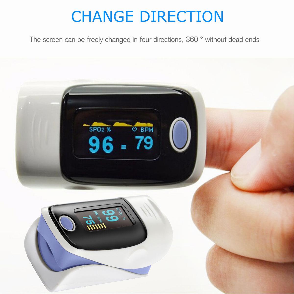 LED-Fingertip-Instant-Read-Finger-Pulse-Oximeter-Blood-Oxygen-Meter-SpO2-Monitor thumbnail 30